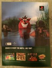 Crash Bash Crash Bandicoot Poster Ad Print Playstation
