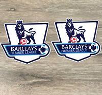 2 X Official Barclays Premier League Badge Hot Iron Heat Blue EPL Patch T273-6