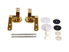 Brass Gold Effect Toilet Seat Fittings Seat Hinges for Wooden Toilet Seats with