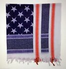 USA RED WHITE& BLUE Shemagh Heavyweight USA FLA Tactical Desert Keffiyeh Scarf
