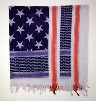 Shemagh USA RED WHITE & BLUE Heavyweight USA FLA Tactical Desert Keffiyeh Scarf