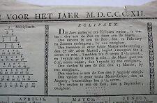 Courtray. Belgium Cortrykschen almanach voor jaer M.D.C.CalvinCalvinXII.