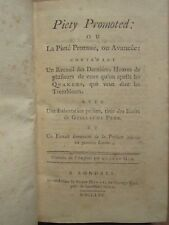 GAY : DERNIERES HEURES DES QUAKERS, 1770.