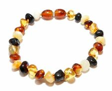 Baltic Amber Bracelet for Adult with Screw Clasp Genuine, Amber Bracelet