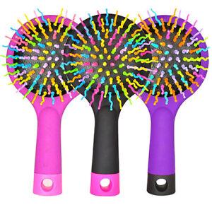 Volume Detangling Anti-static Hair Brush Mirror Rainbow