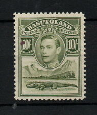 More details for basutoland kgvi 1938 10/- olive green sg28 mnh unmounted mint ws24308