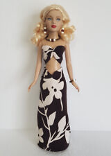 TINY KITTY Doll Clothes Tropical Top, Skirt and JEWELRY HM Fashion NO DOLL d4e