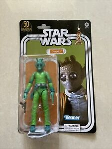 "STAR WARS THE BLACK SERIES LUCASFILM 50TH ANNIVERSARY GREEDO 6"" IN HAND! Buy!"
