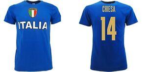 T-shirt Italia Euro 2020 Maglia Italia Chiesa 14 azzurri adulto Bambino Federico