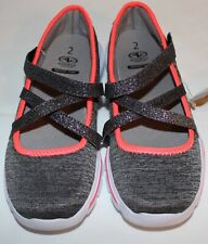 Athletic Works Youth/Girls Size 2y Grey & Orange Tennis Shoes Memory Foam #2