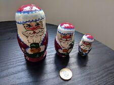 Father Christmas Russian Doll Santa Claus 3Pcs