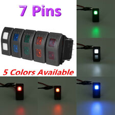 7Pin LED DPDT ON-OFF-ON 2 LED ARB Rocker Switch Car SUV Marine Universal 12/24V