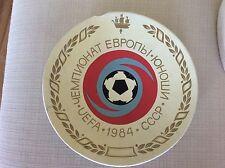CAMPIONATI EUROPEI EURO 1984 CALCIO PIATTO UFFICIALE NAZIONALE CCCP URSS RUSSIA