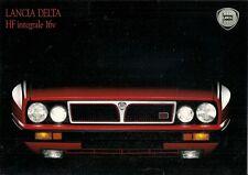 LANCIA Delta HF Integrale 16v 1989-91 mercado del Reino Unido Folleto de ventas