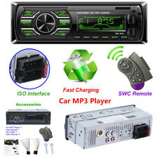 Car Stereo Bluetooth Audio 1 DIN In-Dash FM Aux Input Receiver SD USB MP3 Player