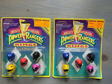 1993 SABAN MIGHTY MORPHIN POWER RANGERS RINGS 2X STREET WISE DESIGNS NEW