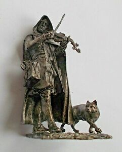 1/30 Medieval Bard Street Musician with Cat Tin Metal Soldier Miniature 65mm NEW