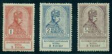 HUNGARY #B15-17, Semi-postal, high values of set, og, LH, VF, Scott $130.00