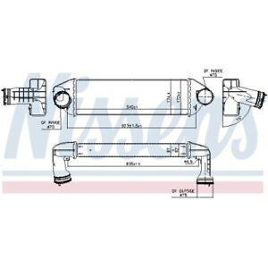 1 Intercooler NISSENS 96128 adatto a BMW