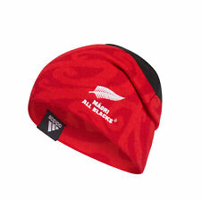 adidas Maori All Blacks Rugby Supporter Fan Beanie Hat Black/red - OSFM