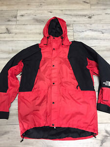 Men's Vintage The North Face Goretex Mountain Guide Red Jacket Size XL
