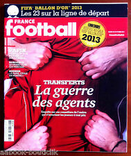 FRANCE FOOTBALL 29/10/2013; La guerre des agents/ Papin/ Bodmer/ Ballon d'or