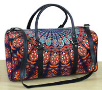 Indian Mandala Duffle Sports Gym Bag Unisex Travel Bags Cotton Handbag Throw *