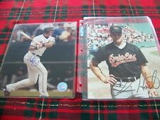 Two Baltimore Orioles Autographed 8 x 10 Photos Larry Bigbie & Chris Hoiles