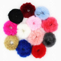 Hair Ring Rope Band Fluffy Faux Furry Scrunchie Elastic Hair Tie Girls Accessory