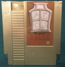 LEGEND OF DRINK GOLD NES Flask Nintendo Factory Second Ink Whiskey Zelda Link