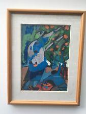 Très belle peinture gouache XXe siècle oriantaliste algerie signé Amarkhodja.