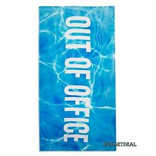 Out Of Office Primark Beach Towel Bath Bathroom Travel Nautical Swimming Pool