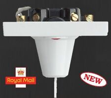 45a Pull COrd Switch Bathroom Shower Light Switch Ceiling White Double Pole