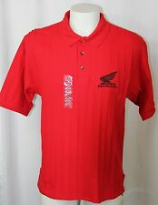 New HONDA Rider's Club of America Polo Shirt Red Embroidered Men L Motorcycles