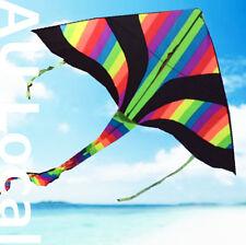 Delta Kite 150x80cm Rainbow Line Grip included Easy to Fly OKITE2501&OKLIN2100