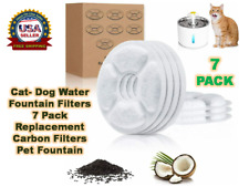 New listing Cat- Dog Water Fountain Filters 7 Pack Replacement Carbon Filters Pet Fountain