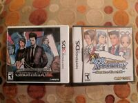 JAKE HUNTER GHOST DUSK + ACE ATTORNEY JUSTICE FOR ALL (Nintendo DS/3DS) Complete