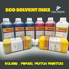 More details for eco solvent ink roland, mimaki, mutoh, epson dx4/5/7 (cmyk & cleaning solution)