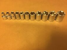 Craftsman Hand Tools Socket Set 3/8 Drive 11 pc Piece 6pt Point SAE Inch 1/4 7/8