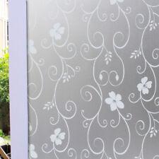 White Frosted Bedroom Bathroom Glass Window Door Privacy Film Sticker PVC 200x45