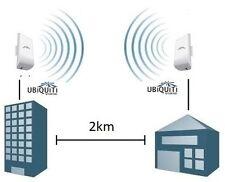 Setup custom wireless WiFi bridge 2,4GHz - up to 5km, up to 300Mbps - Ubiquiti