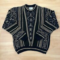 Vintage Mens Cosby Coogi Style Sweater 80s 90s Retro Jumper 3D Hip-Hop Toorallie