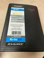 2022 At A Glance My Day Daily Planner Appoinment Book Dayminder 76 04 05