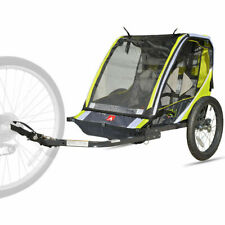 Bike Trailer 2-Child Two Seat Folding Pull Cart Transport Outdoor Ride
