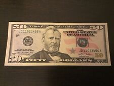 Rare!......2009 Ladder!!!.....$50 dollar bill.....11023456...WOW.