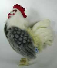 """Plush Rooster Hansa Stuffed Animal 2010 Realistic 12"""" Toy Prop"""