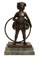 Bronze Statue Young Hoop Girl Preiss Inspried Sculpture