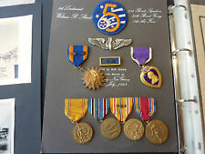 Complete WW2 US Air Force Medal Group - Killed in Action - Named Medals & Photos