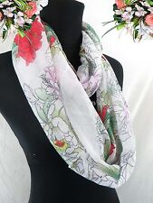 US SELLER Wholesale scarf accessory abstract flower double loop infinity scarf