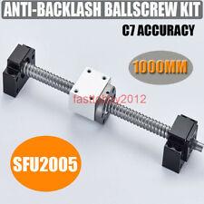 SFU2005 C7 BallScrew 5mm L1000mm Ball Screw+BK/BF15 End Support+Ballnut